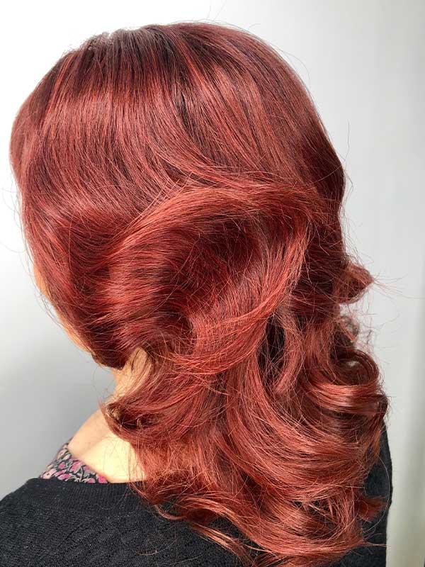 Finnesse Hair | Kellyville Hairdresser Services | Stylist | Makeup | Beauty Salon | Best Hair Inspiration | Hills District | Long | Red | Colour | Blowdry